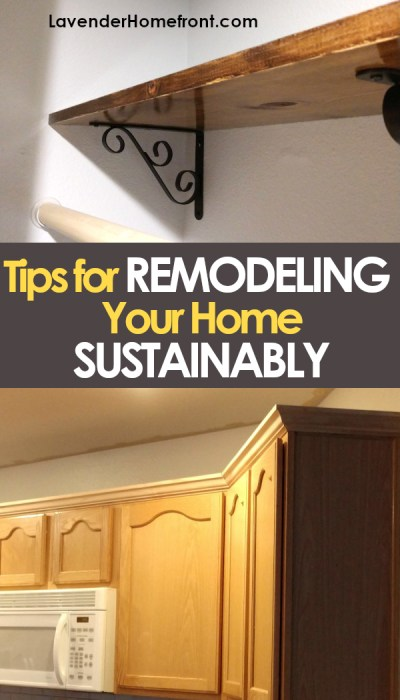 Tips to remodel your home sustainably pinnable image