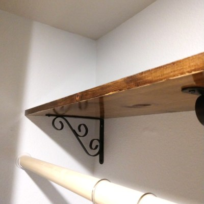 reclaimed wood shelf in a sustainabel remodel