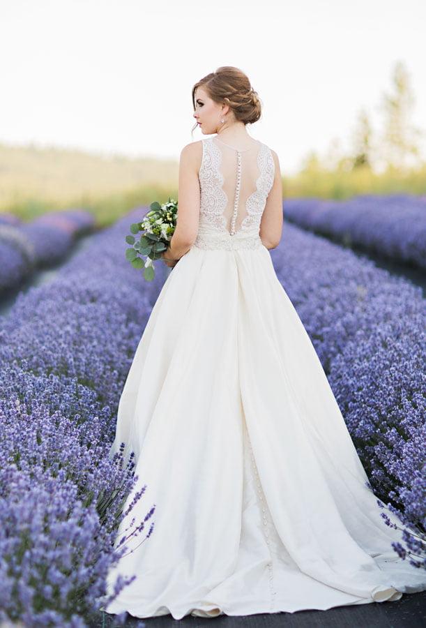 Back of Bride's dress.