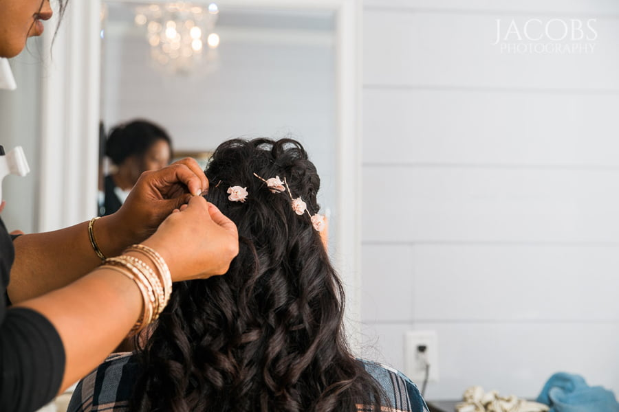 Bride Dressing Hair