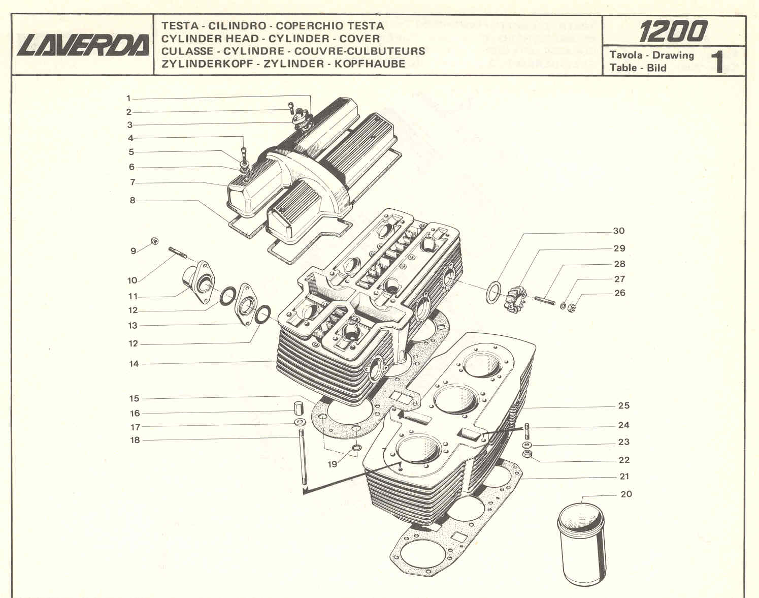 hight resolution of laverda 1000 1200 spare parts cylinder head