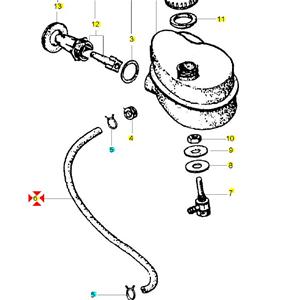 Tubo olio miscelatore per VESPA COSA T5 PX PE RALLY 125