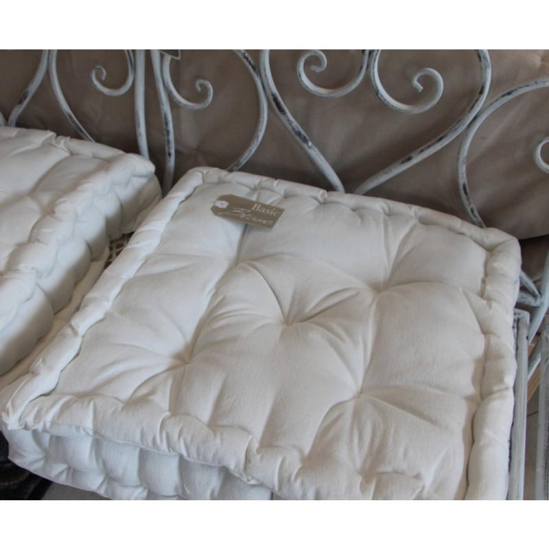 Utilizziamo cookie anche di terze parti per migliorare i nostri servizi e la tua esperienza di acquisto. Cuscino Sedia Blanc Mariclo 45x45x10 Cm Bianco Box Cushion Cuscini Tessuti