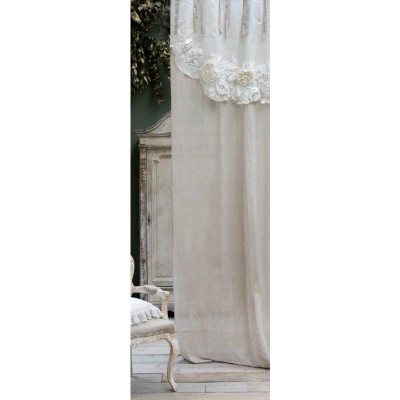 Tenda Blanc Maricl 130x290 con mantovana 100 lino