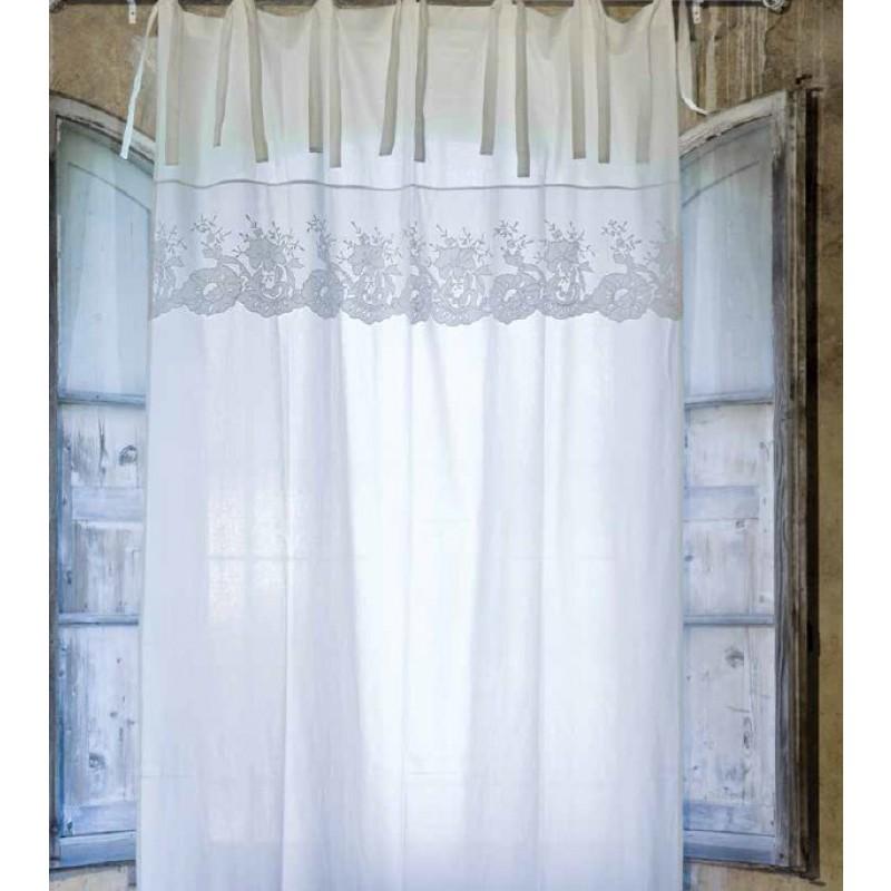 Tenda Blanc Maricl 140x300 cm colore avorio  Tende  Tessuti