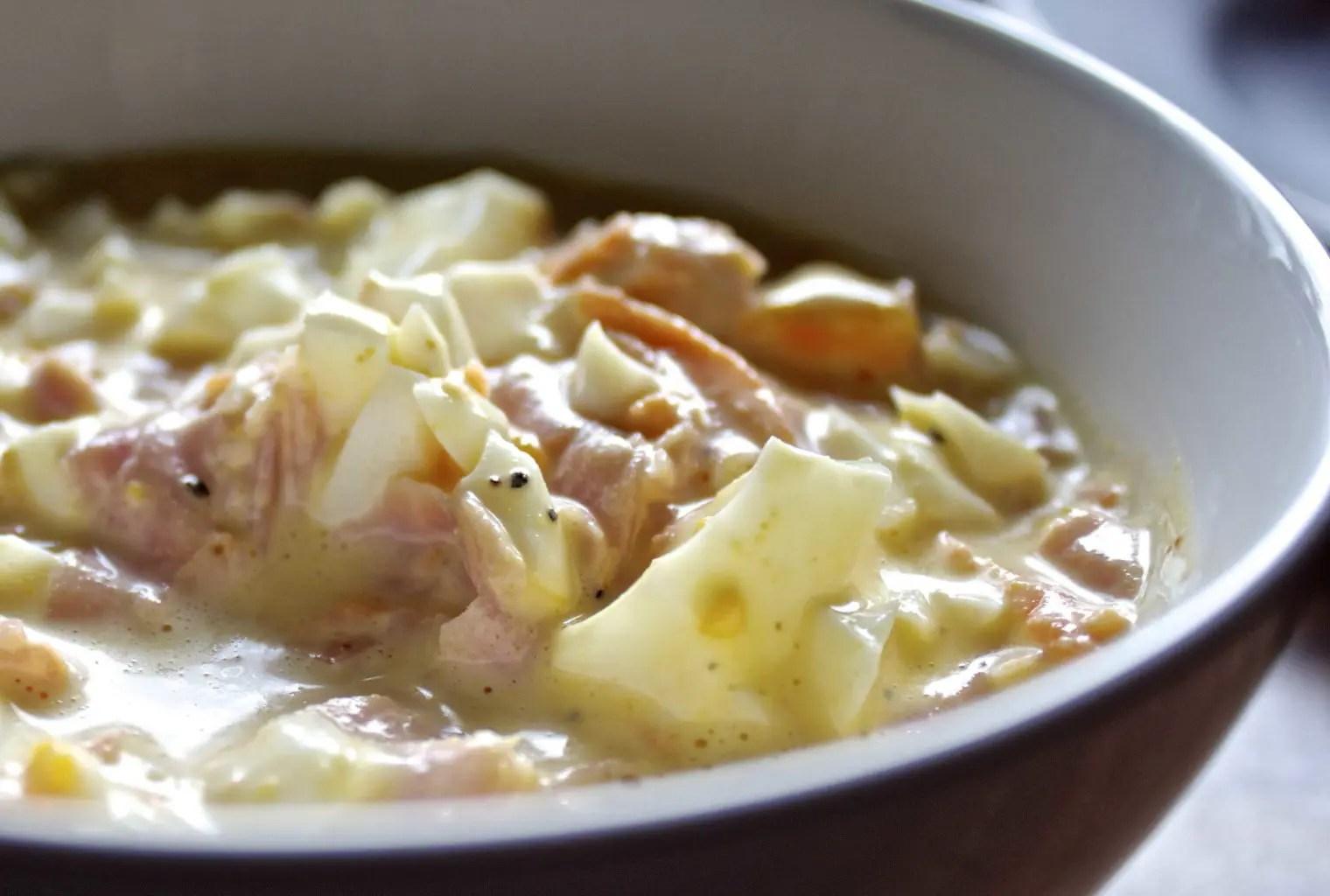 Egg- og skinkesalat