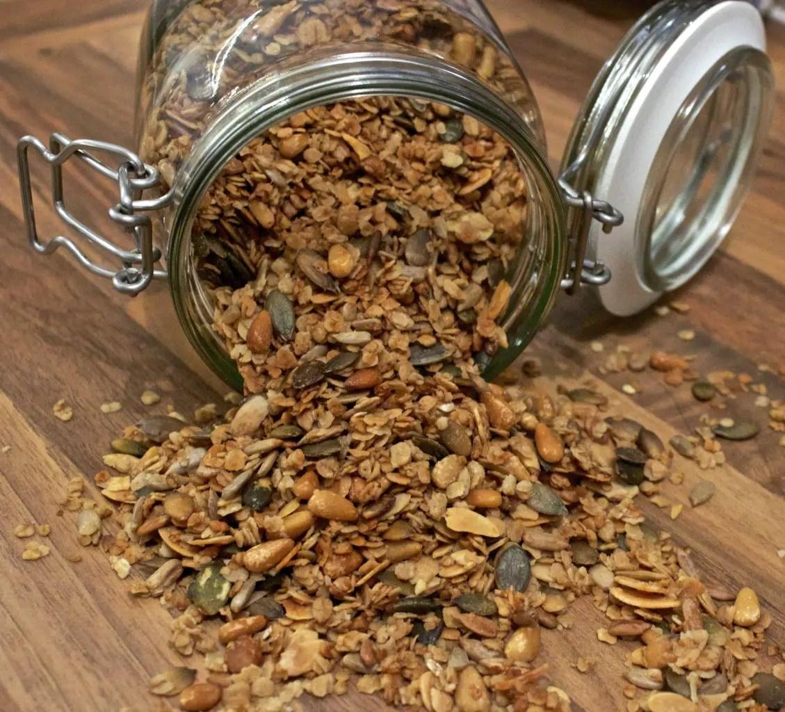 Hjemmelaget glutenfri granola/musli