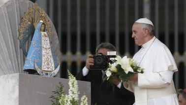 papa francesco a Lujan