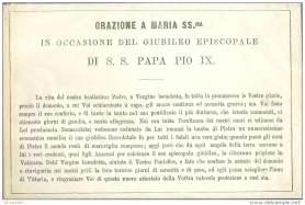 Preghiera per Giubileo Pio IX