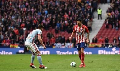 Vitolo, titular, se estrenó como goleador frente al Celta. Foto: RUBÉN DE LA FUENTE