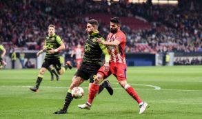 Costa fue una pesadilla para los centrales del Sporting. Foto: RUBÉN DE LA FUENTE