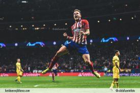 Saúl celebra con rabia el uno a cero frente al Borussia. Foto: clubatleticodemadrid.com