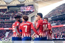 Jugadores celebran en el Metropolitano. Foto: Rubén de la Fuente