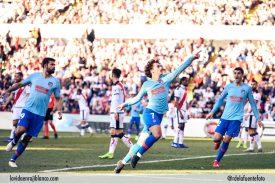 Griezmann celebra el gol de la victoria. Foto: Rubén de la Fuente