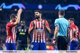 Costa en una imagen del partido frente a la Juve. Foto: Rubén de la Fuente