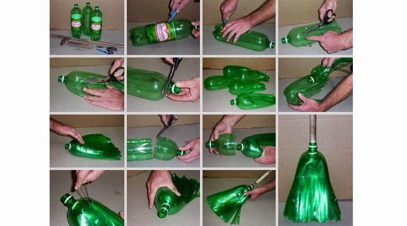 Reciclaje  Escoba con botellas de plstico  Vida Lcida
