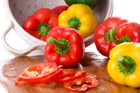 plus d'aliments alcalins Peppers