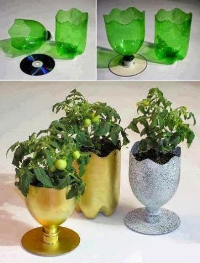 ideas para reciclar botes de plástico