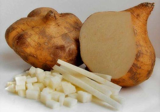 frutas y verduras jícama