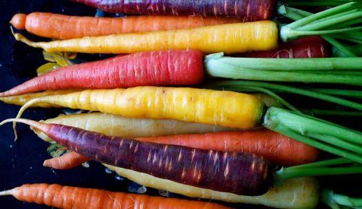 frutas y verduras zanahoria arcoiris