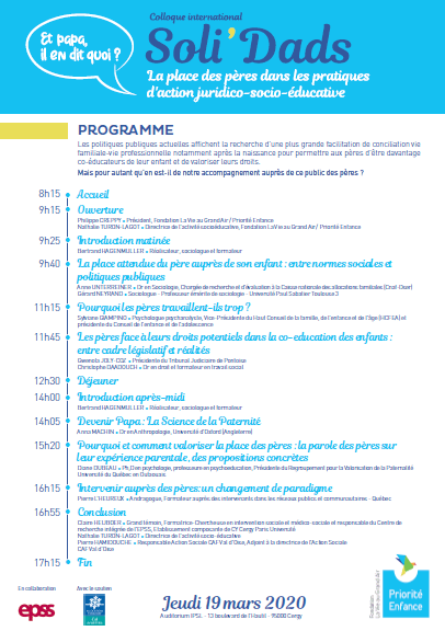 Colloque internationnal Soli'Dads