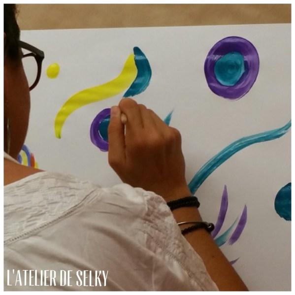 premières séances du jeu de peindre