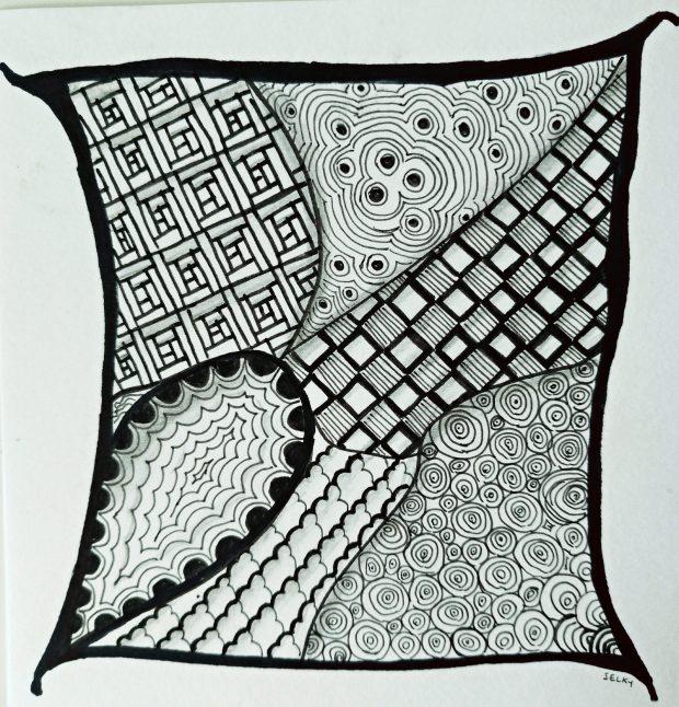 Atelier de Selky - dessin méditatif Zen and Doodle 5