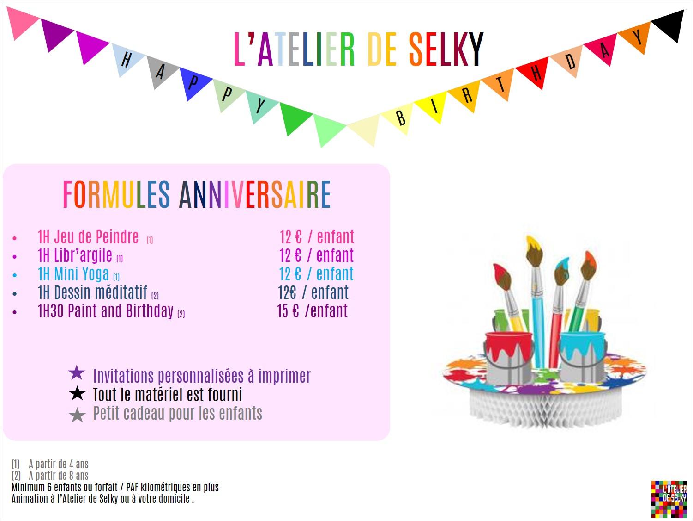 Anniversaire Enfants L Atelier De Selky