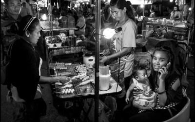 le marché, le soir