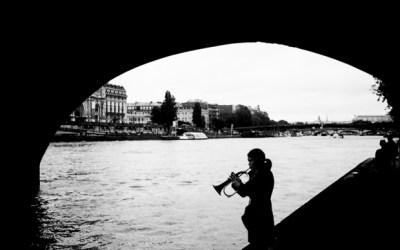 Trompettiste en Seine