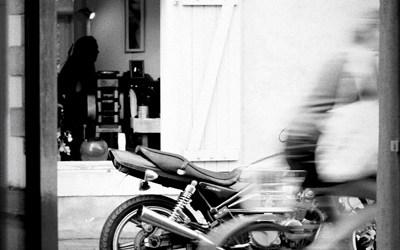 La moto de Cédric