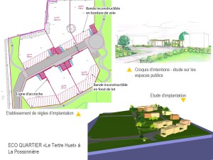 Eco quartier Le Tertre Huet, La Possonnière (49)
