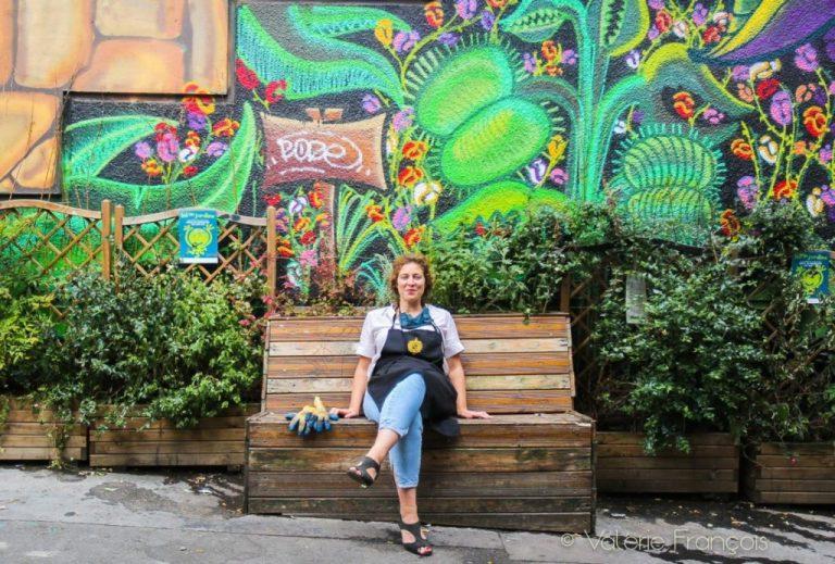 Emilie Bourgouin est à l'initiative de la végétalisation de la Place des Rigoles dans le XXème arrondissement de Paris.