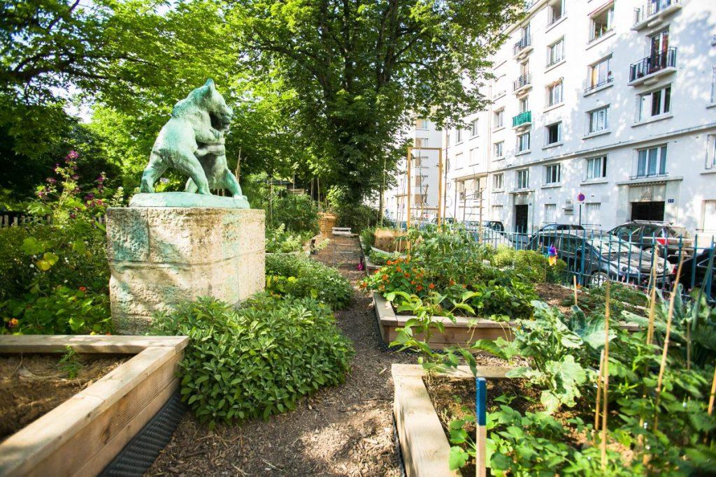 Le jardin partagé des oursons - square Saint-Lambert