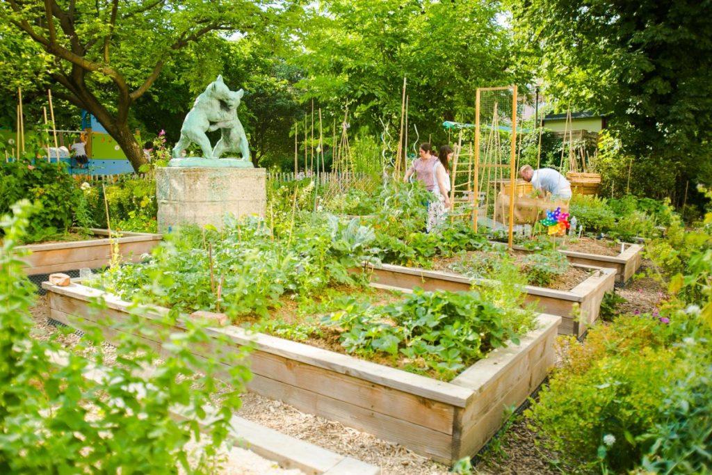 LLe jardin partagé des oursons - square Saint-Lambert