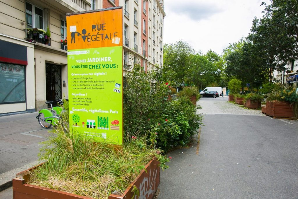 La rue végétale rue Léon Séché Paris 15