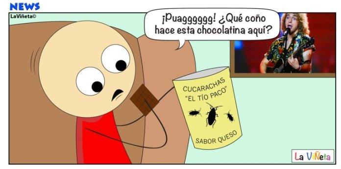 Cucaracha en chocolatina