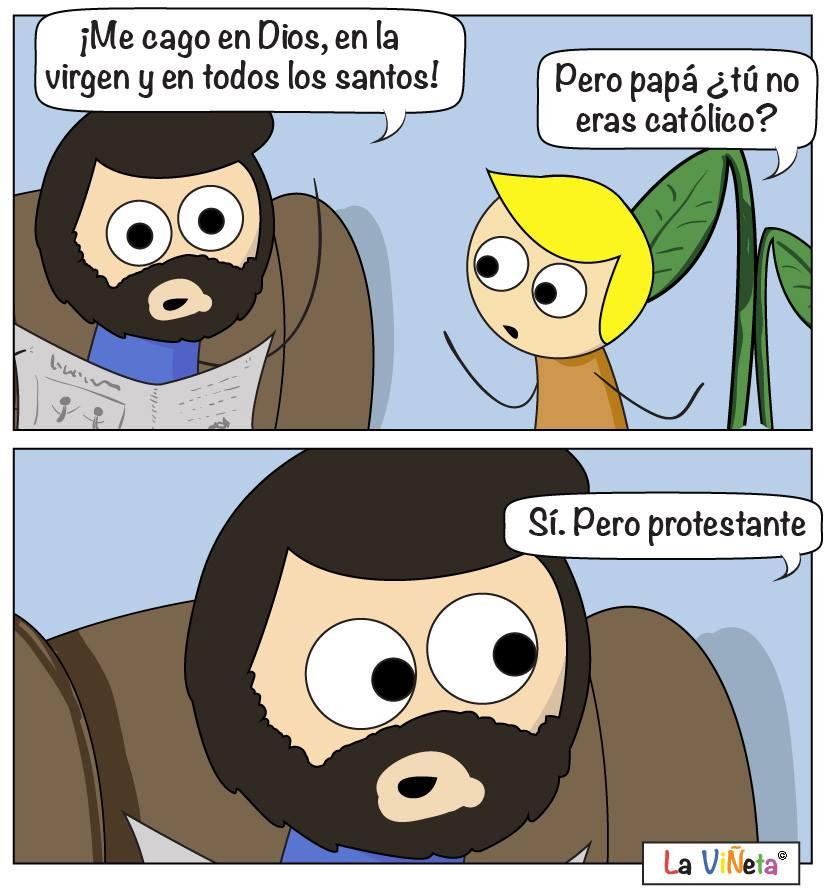 Protestantes La Viñeta Webcomic