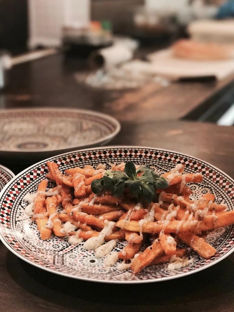 Piatti di Street Food al De Hallen di Amsterdam