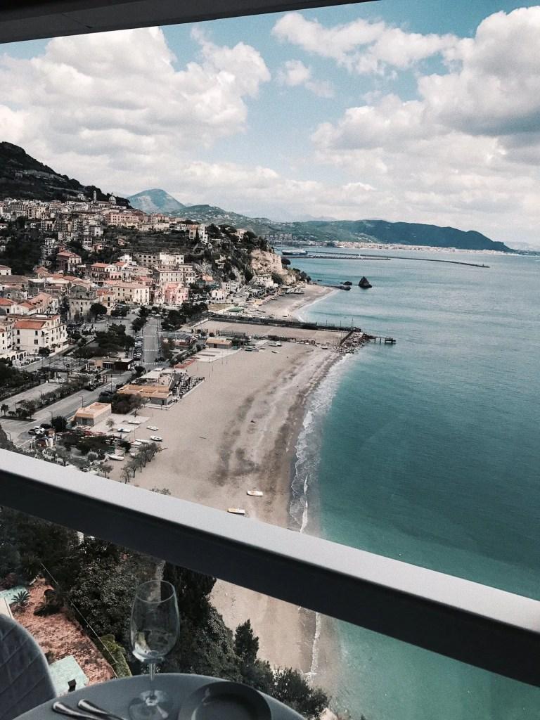 Vista dal Ristorante dell'hotel voce del Mare