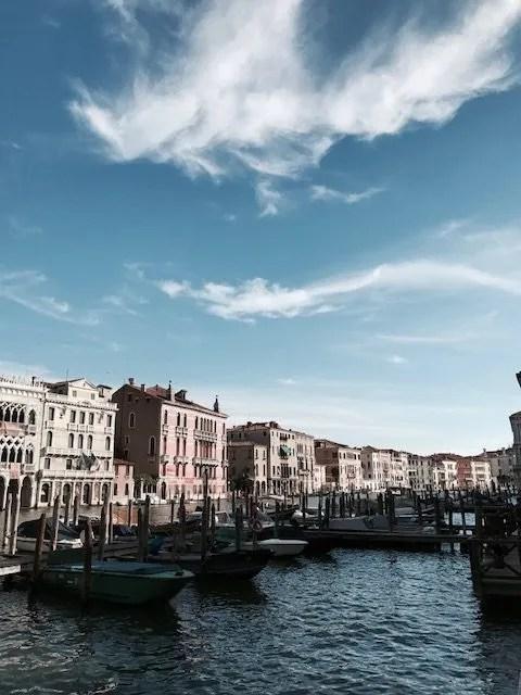 Vista sui canali di Venezia