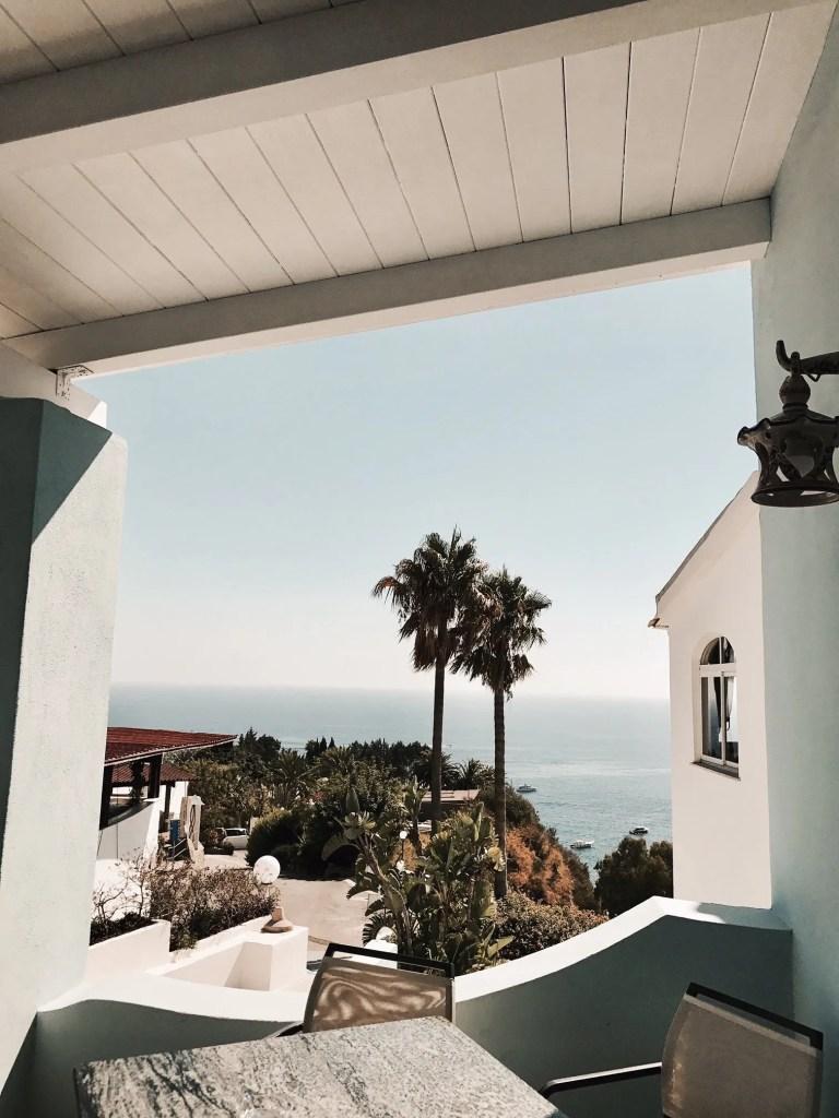 Angoli bellissimi con vista sul mare al Romantica Hotel di Ischia