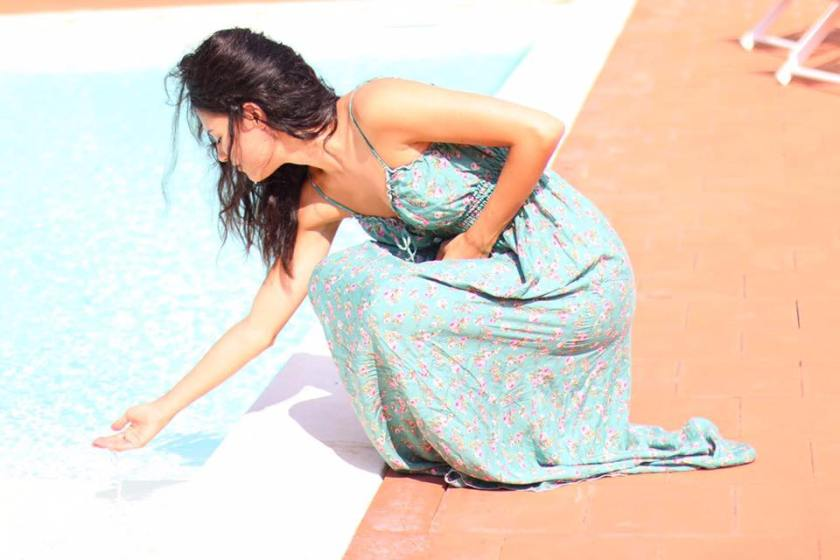 Lavinia Guglielman bordo piscina a Catania