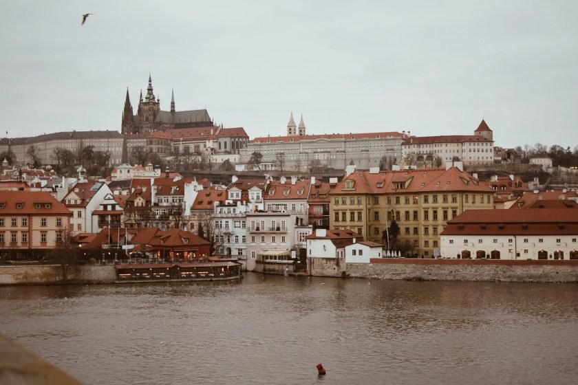 Vista di Praga dal Charle's Bridge