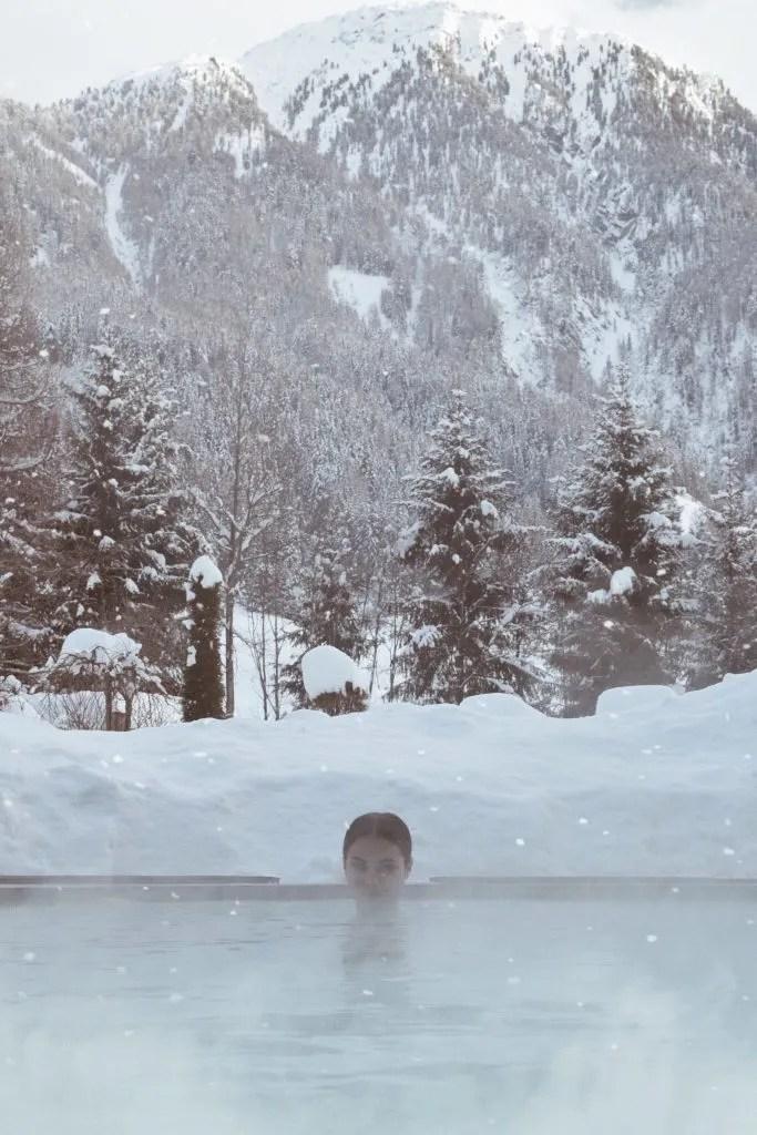 spa di lusso al Quelle Resort, piscine a 5 stelle lusso con Lavinia Guglielman