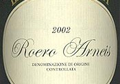 Roero Arneis 2002