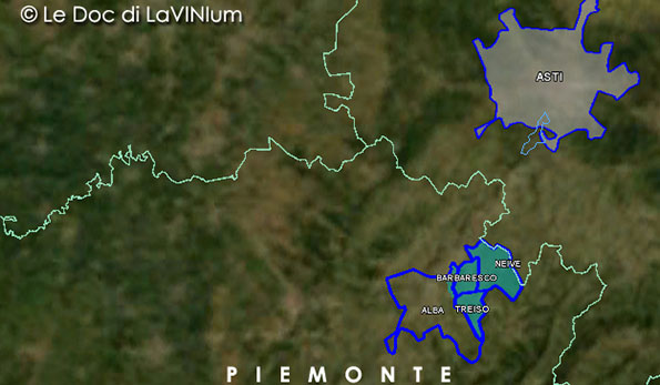Mappa disciplinare vino Docg Barbaresco