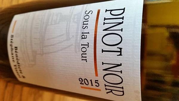 Pinot Noir Sous La Tour 2015
