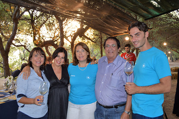 Carmen Guerriero con Roberta Urso, Annalisa Chiavazza dell'agenzia Wellcom, il giornalista Pietro Capizzi e il PR Nicolò Buscaglia