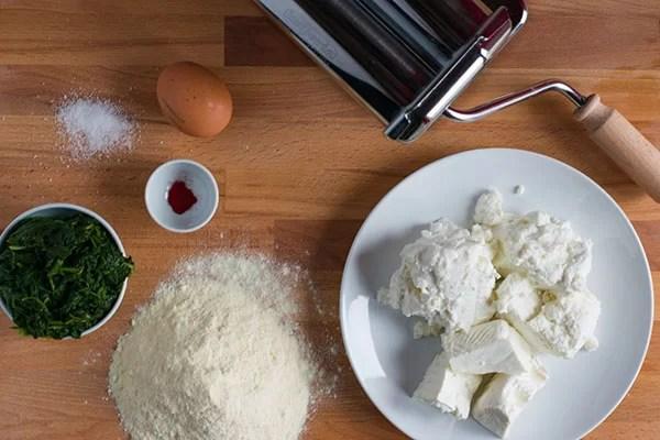 ingredienti per ricetta ravioli sardi
